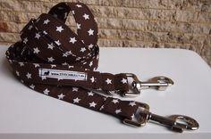 gesternte Hundeleine Harmony Braun mit Stern  von stitchbully.de für Hunde auf DaWanda.com