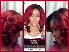 Zury SIS MIKA A-Line Lace  H Wig - Sombre RT Wine/Burgundy - ElevateStyl...