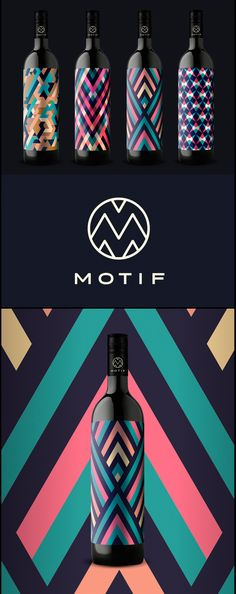 Motif Wine. - #packaging #labelling #design - Isadora Design, a Creative Web Design Agency http://www.IsadoraDesign.com/
