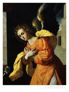 Angel Gabriel, from the Annunciation, 1638-39 (Detail) Lámina giclée