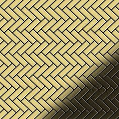 Mosaic tile massiv metal Brass mill gold 1,6mm thick ALLOY Herringbone-BM