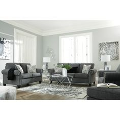 Mystery Of Alcott Hill Derry Configurable Living Room 47 - censiblehome Furniture Depot, Living Room Furniture, Furniture Sets, Classic Living Room, Living Room Shop, Nailhead Trim, Chair And Ottoman, Love Seat, Foam Cushions
