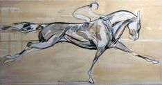 """Eating the Ground  27"""" x 58"""", Mixed media on paper"""
