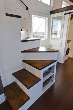 A custom tiny home built by Tiny Living Homes in Delta, British Columbia, Canada. Did you know Valhalla is building and off grid school?! www.valhallamovement.com/slc
