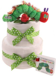 2 Tier New Baby Gift Hungry Caterpillar Nappy Cake Baby Shower Host, Baby Shower Items, Baby Shower Party Supplies, Baby Shower Favors, Baby Shower Cakes, Baby Shower Parties, Baby Shower Decorations, Baby Shower Gifts, Baby Showers