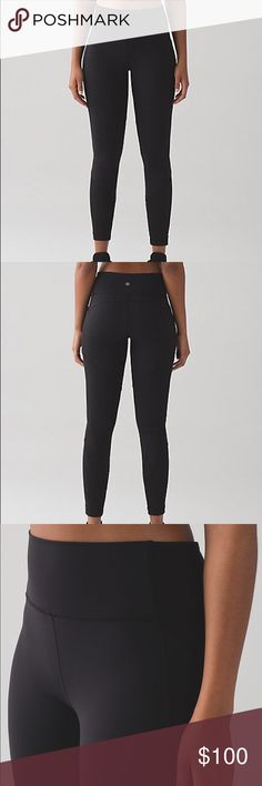 Lululemon Fit Physique Tights Luon. Size 8. Worn once, but in perfect condition! Lululemon Fit Physique Tights. Black with mesh detailing. lululemon athletica Pants Leggings