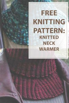 Neck Warmer Knitting Pattern is a free,easy and really useful knitted project.Use some chunky yarn to keep your neck warm and comfy. All Free Knitting, Vogue Knitting, Loom Knitting, Knitting Patterns Free, Knitting Scarves, Knitting Stitches, Knit Mittens, Knitted Cowls, Knit Hats