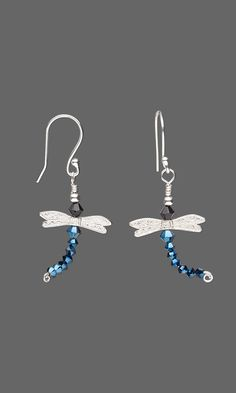 Jewelry Design - Earrings with Sterling Silver Beads and Swarovski Crystal - Fire Mountain Gems and Beads
