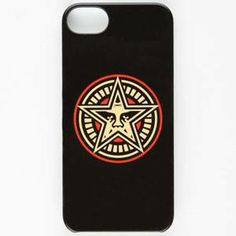 This Obey case design is very effective. The contrast in colors draws the eye straight to the center. The rounded edges of the circle also contrasts with the sharp edges of the star, which also brings the viewer to look immediately at the center, which, conveniently, is where the company logo is located.The artist keeps the thickness of the lines consistent, creating a nice, organized image. This design flawlessly incorporates the logo without jeopardizing style and originality.