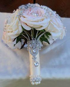 Custom made wedding bridal brooch bouquets, rhinestone wedding bouquets, and… Button Bouquet, Wedding Brooch Bouquets, Bride Bouquets, Flower Bouquet Wedding, Purple Bouquets, Bridesmaid Bouquets, Pink Bouquet, Flower Bouquets, Wedding Crafts