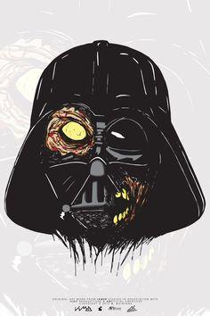 Darth Vader Zombie by andres quintana, via Behance