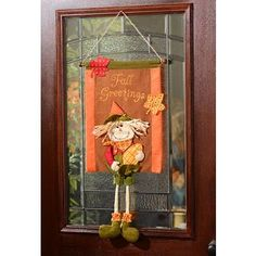 Hang this fun fall friend on your front door or on a wall in any room since he is a tapestry! #kirklands #harvest