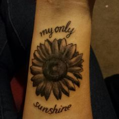 My technically fourth tattoo. For my grandpa who sang me that song and who loved sunflowers.