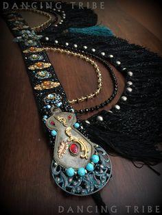 LAYAWAY #2 Tribal Fusion Belt Tribal Belly Dance Belt Gypsy Black Fringe Belt…