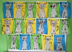 Cats for kids. Art Lessons For Kids, Art Lessons Elementary, Art For Kids, Middle School Art, Art School, Cat Crafts, Arts And Crafts, Art Projects, School Projects
