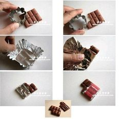 Tuto fimo : Tablette de chocolat