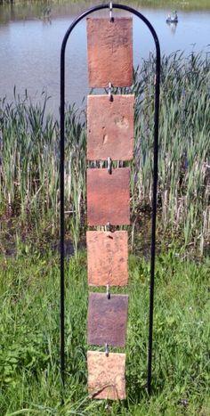 SCULPTURE Tuiles Pays de Bray Suspension Verticalité Abstrait Assemblage Terre cuite  - Paravent I