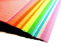 Pocket Planner LINED Double Rainbow Notepaper, 72 Sheets
