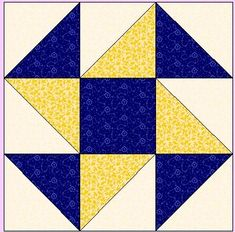Perpetual Motion pattern for 12 inch block