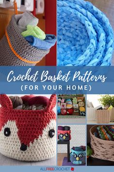 11 Crochet Basket Patterns (for Your Home) Find the coolest free crocheted basket patterns that can All Free Crochet, Crochet Home, Love Crochet, V Stitch Crochet, Basic Crochet Stitches, Crochet Basket Pattern, Crochet Patterns, Crochet Baskets, Crochet Bags