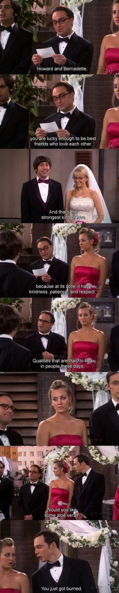 One of my favorite moments on the Big Bang Theory