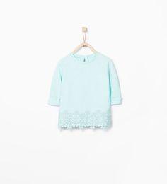 ZARA - KIDS - Sweatshirt with embroidered hem