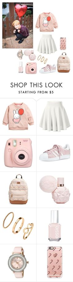 """Valentines Day"" by redvelvetarianator ❤ liked on Polyvore featuring Fujifilm, adidas, Rip Curl, H&M, Essie, Ted Baker and Casetify"