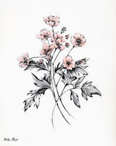 The Art Colony Monoprint Artists, Arm Tats, Meadow Flowers, Fantastic Art, Community Art, Flower Tattoos, Colonial, Henna, Cool Art