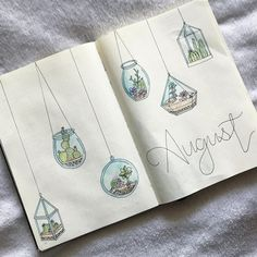 I can't be the only one super behind on their August spread ! Cacti and succulents for this month's theme #bulletjournal #bulletjournaling #bujo #bujoinspo #bujobeauty #bulletjournaljunkie