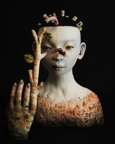 Charlene Doiron Reinhart, ceramic sculpture