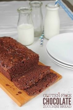 Gluten-Free, Dairy-Free Chocolate Zucchini Bread -- super moist and delicious way to use fresh or frozen zucchini!