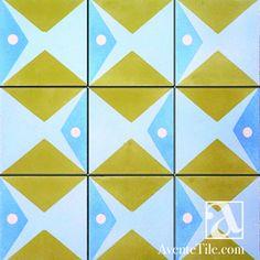 "Artist Series Thimo Pimentel Juanillo 8"" x 8"" Handmade Cement Tile"
