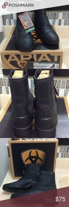ARIAT Paddock boots, horse back riding boots Ariat Women's Heritage sport zip paddock boots. I originally purchased them at a feed store closing sale for $80. They are now lightly worn with lots of good life and rides left. They pair well with half chaps and are extremely comfortable! Ariat Shoes Ankle Boots & Booties