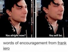 Band Pictures You Didn't Know You Needed // Volume II - // 75 - Author's Note + Frank Iero Compilation // - Wattpad Emo Band Memes, Mcr Memes, Emo Bands, Music Bands, Mcr Quotes, Music Stuff, My Music, Frank Lero, Mikey Way