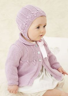 The Little Alice Bonnet & Little vintage Alice Coat from The Exquisite Little Sublime Baby Silk & Bamboo DK Book!