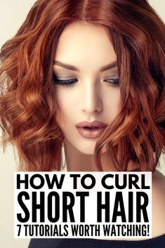 Whether you have really short hair, a bob, a lob, or something in between, we're sharing the best tutorials & products to teach you how to curl short hair! Curls Without Heat, Curls No Heat, No Heat Hairstyles, Curled Hairstyles, Medium Hair Styles, Short Hair Styles, Hair Medium, Short Hair Hacks, Curling Hair With Flat Iron