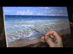 Paint A Tropical Beach Time Lapse With Acrylics Painting Lesson Class Cl...