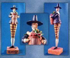 Jim Shore Heartwood Creek Bounty Pilgrim Man w Basket 117657 RARE | eBay