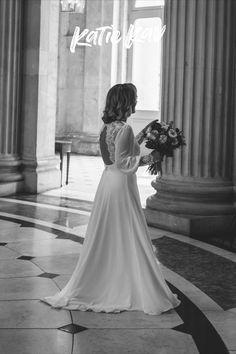 Elegant bride in boho lace back wedding dress from Etsy Lace Back Wedding Dress, Wedding Dresses, Documentary Wedding Photography, Irish Wedding, Elegant Bride, Documentaries, Boho, Etsy, Fashion