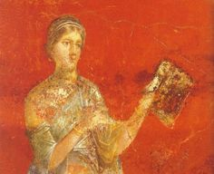 Clio, Muse of history - wall painting in Pompeii