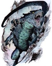 Frost Salamander - Dungeons and Dragons Wiki - Wikia  Frost salamanders are magical beasts that inhabit cold regions