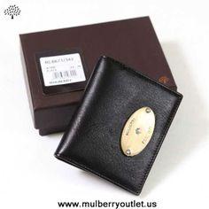 Mulberry Mens Wallet Black Outlet Online