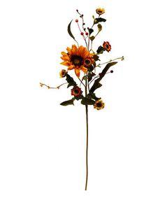 Loving this Small Sunflower Spray on #zulily! #zulilyfinds