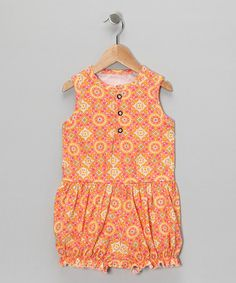 Take a look at this Melon Bubble Romper - Infant, Toddler & Girls by Right Bank Babies on #zulily today!