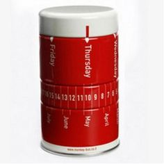 Mini Calendar Red Tin Container for Office Decor with Pushpins, Paper Clips and Elastic Bands (Office Product)  http://www.usb-blog.de/preview.php?p=B00153948K