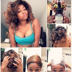 """""""Non-damaging way to straighten natural or relaxed hair! Yes, this can be done on all hair types* without a blow dryer nor flat iron! 1⃣ set w/…"""""""