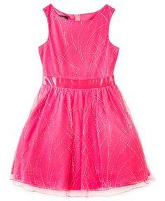 BCX Kids Dress, Girls Glitter Party Dress