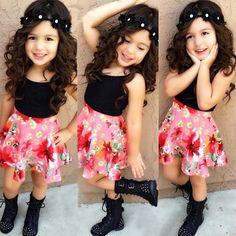 $9.79 (Buy here: https://alitems.com/g/1e8d114494ebda23ff8b16525dc3e8/?i=5&ulp=https%3A%2F%2Fwww.aliexpress.com%2Fitem%2F2016-summer-girl-clothes-vest-skirt-2pcs-fashion-suit-baby-clothing-set-2-3-4-5%2F32695918262.html ) 2016 summer girl clothes vest + skirt 2pcs fashion suit baby clothing set 2 3 4 5 6 7 years old Girl clothing set for just $9.79
