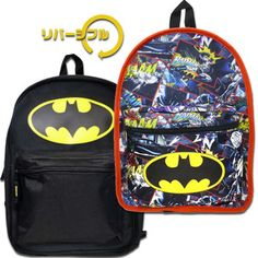 ◎【BATMANバットマン】リバーシブルバックパック「マーク&コミック」リュックサック・アメコミリュック