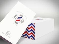 """Student Work – Adrian Gilling - """"The Elegant Barber is an identity and packaging concept for a classic men's barber shop and line of products. Through the use of a simple die-cut and pattern, customers get to experience the movement of the barber pole with each purchase and/or trip to the shop."""""""